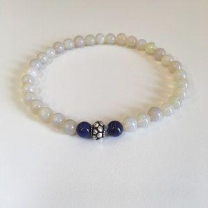 Stunning Fire Opal and Lapis Lazuli Bracelet